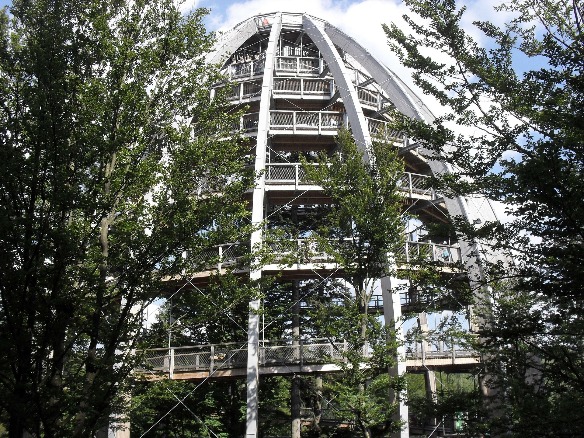 Stezka korunami stromů Bavorsko