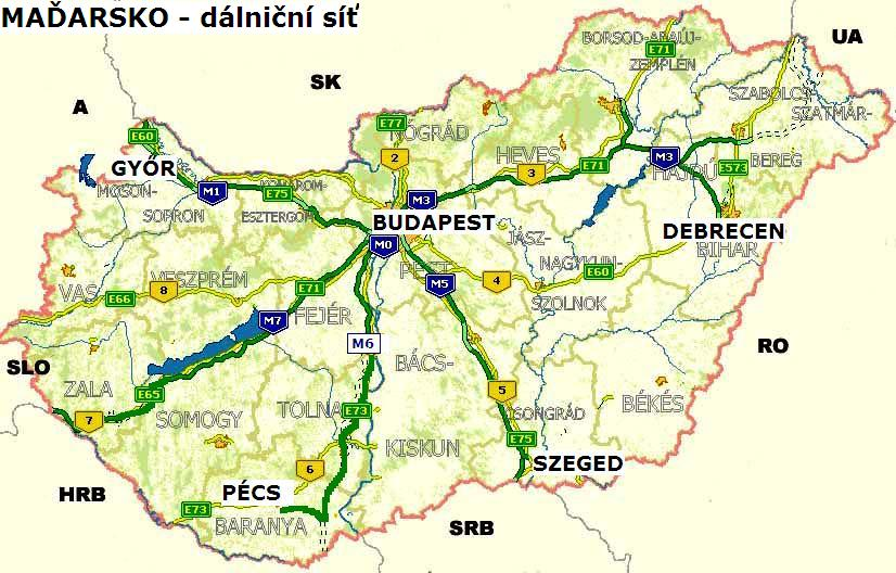 Maďarské dálnice a dálniční známka