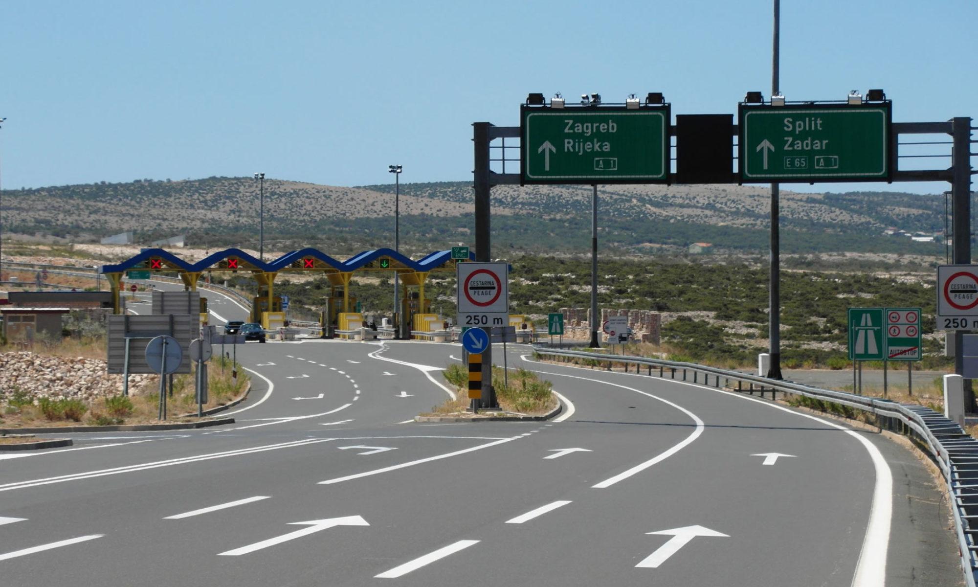 Poplatky na cestě do Chorvatska