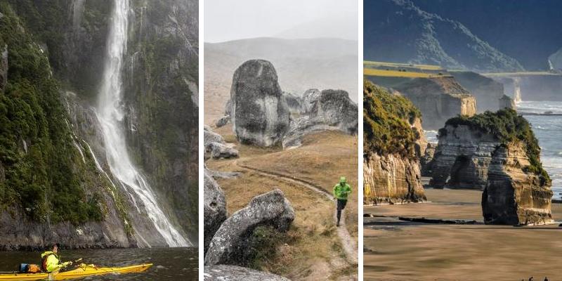 Ohromující scenérie novozélandské přírody